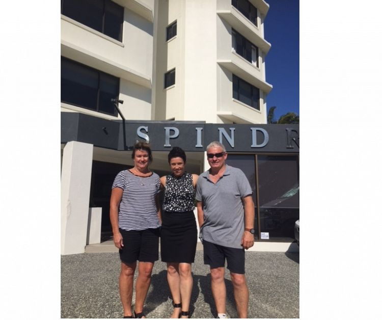 Narelle Filmer of First National Think Management Rights would like to congratulate Leanne and Peter McIntosh on the purchase of Spindrift Apartments Mermaid Beach.